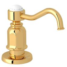 Traditional Deck Mount Soap Dispenser - English Gold