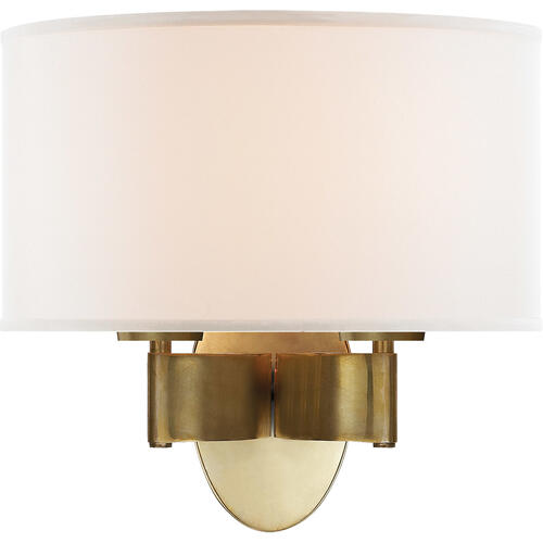 Barbara Barry Graceful Ribbon 2 Light 13 inch Soft Brass Decorative Wall Light