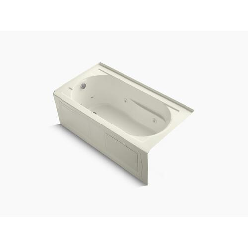 "Biscuit 60"" X 32"" Alcove Whirlpool Bath With Integral Apron, Integral Flange, Left-hand Drain, and Bask Heated Surface"