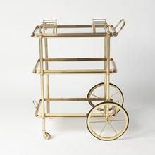 See Details - English Bar Cart and Tea Trolley-Brass
