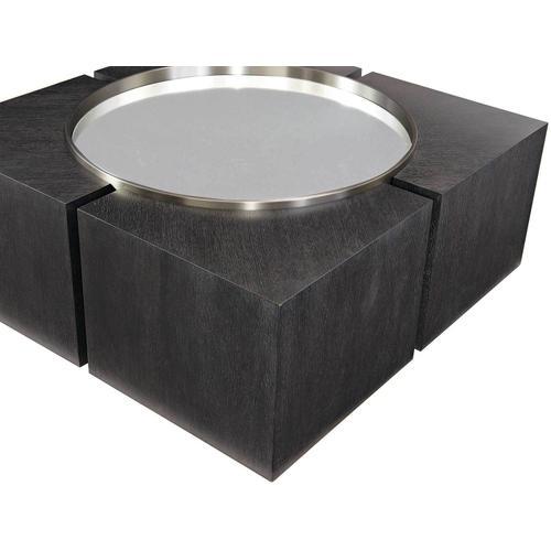 Bernhardt - Decorage Square Cocktail Table in Cerused Mink (380)