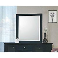 Sandy Beach Black Dresser Mirror Product Image
