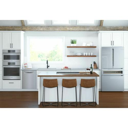 Bosch - 800 Series French Door Bottom Mount Refrigerator 36'' Easy clean stainless steel B36CL81ENG