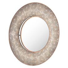 Avila Large Round Mirror Antique Gold