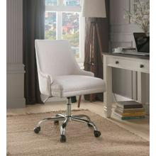 ACME Yuval Office Chair, Beige Linen & Chrome - 92501