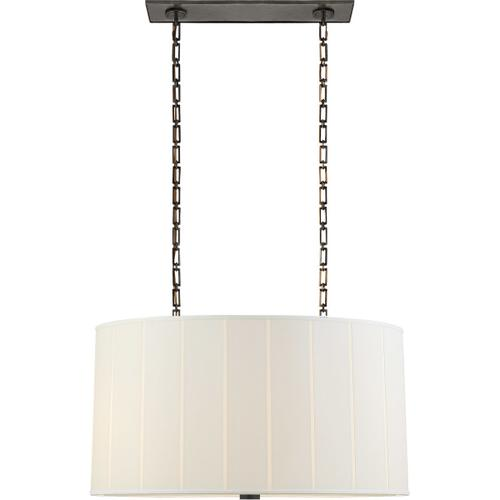 Visual Comfort - Barbara Barry Perfect Pleat 4 Light 36 inch Bronze Hanging Shade Ceiling Light, Oval