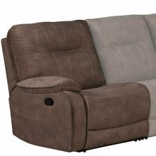 COOPER - SHADOW BROWN Manual Right Arm Facing Recliner