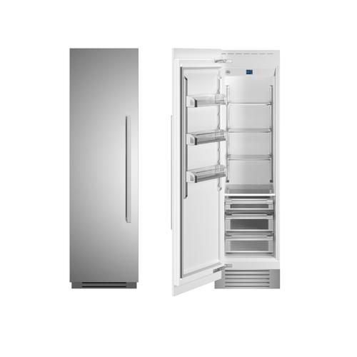 "24"" Built-in Refrigerator column - Stainless - Left hinge"