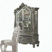 ACME Versailles Curio Cabinet - 66838 - Antique Platinum