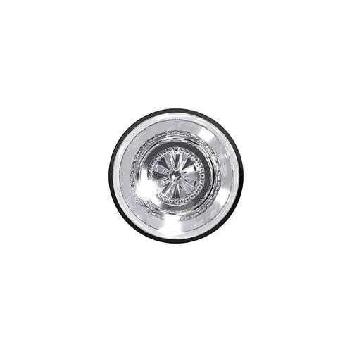 Custom Hobson Non-Turning Glass Knob with Kinsler Trim - Matte Black