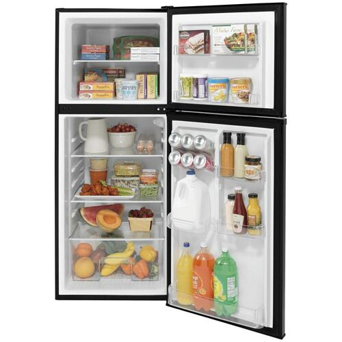 GE Appliances - GE® 9.8 Cu. Ft. 12 Volt DC Power Top-Freezer Refrigerator