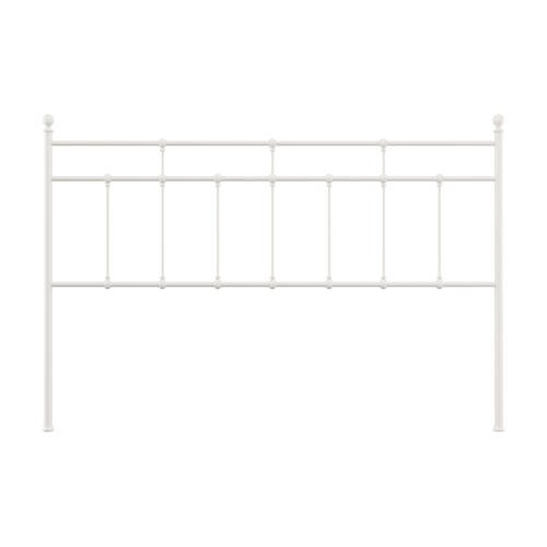 Gallery - Providence Metal King Headboard, Soft White