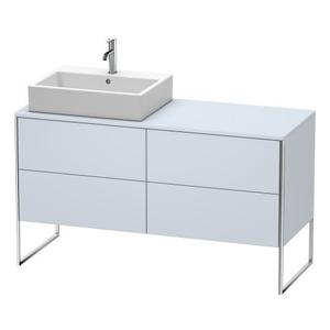 Vanity Unit For Console Floorstanding, Light Blue Satin Matte (lacquer)