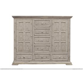 Terra 7 Drawer, 2 Door Mule Chest White
