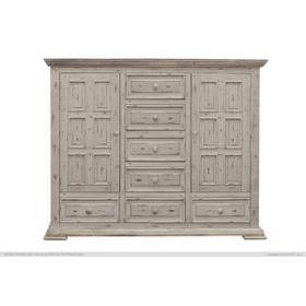 See Details - Terra 7 Drawer, 2 Door Mule Chest White