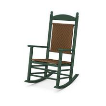 View Product - Jefferson Woven Rocking Chair in Green Frame / Tigerwood