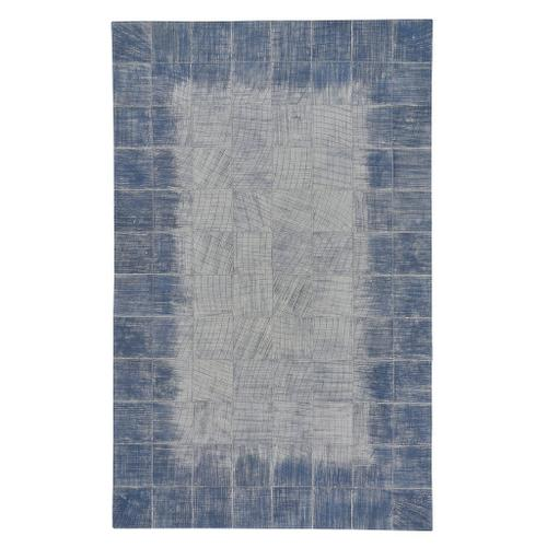 Laramie-Brushed Blocks Sky - Rectangle - 5' x 8'
