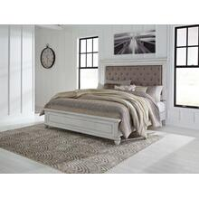 Kanwyn Cal King Upholstered Bed Whitewash