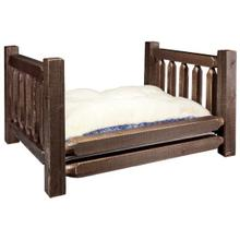 Homestead Collection Pet Bed, Stain and Lacquer Finish