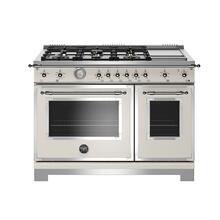 """View Product - 48"""" Heritage Series range - Gas Oven - 6 brass burners + griddle"""