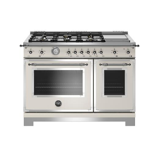 "Bertazzoni - 48"" Heritage Series range - Gas Oven - 6 brass burners + griddle"