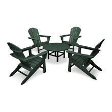 Green South Beach 5-Piece Conversation Group