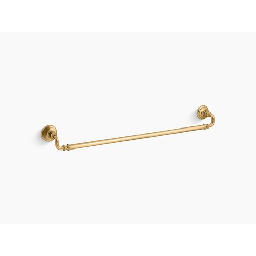 """Vibrant Brushed Moderne Brass 30"""" Towel Bar"""