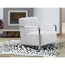 View Product - Divani Casa Bison - Modern White Leather Lounge Chair
