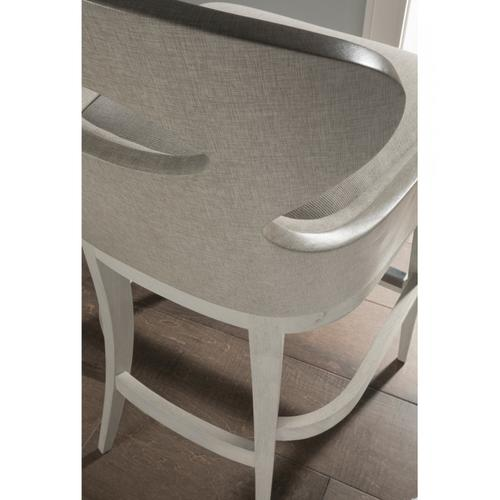 Zeitgeist Linen Upholstered Swivel Counter Stool