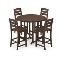 View Product - Lakeside 5-Piece Round Bar Side Chair Set in Mahogany