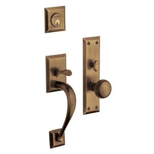 Satin Brass and Black Concord Entrance Trim