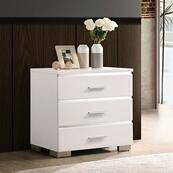 Malte Night Stand w/ 3 Drawers