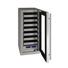 "15"" Wine Refrigerator With Stainless Frame Finish and Field Reversible Door Swing (115 V/60 Hz Volts /60 Hz Hz)"