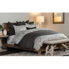 Lido Jacquard Charcoal 3Pc King Duvet Set