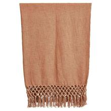 """See Details - 50""""L x 60""""W Woven Cotton Throw w/ Crochet & Fringe, Putty Color"""