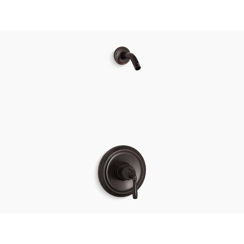 Kohler - Oil-rubbed Bronze Rite-temp Shower Valve Trim With Lever Handle, Less Showerhead