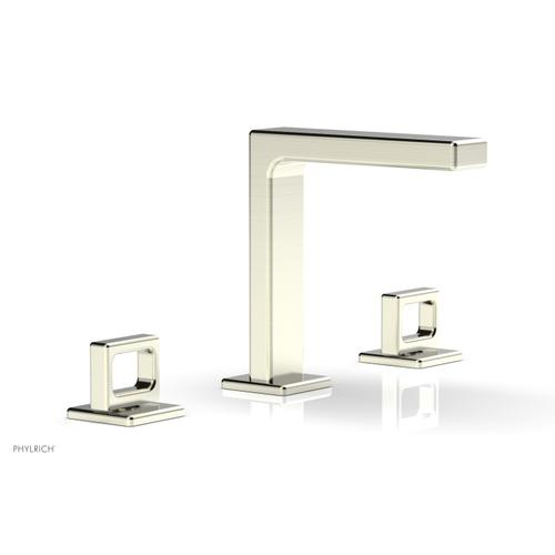 """MIX Widespread Faucet - Ring Handles 6-3/4"""" Height 290-03 - Satin Nickel"""