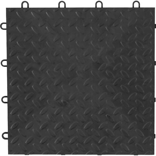 "Gladiator - 12"" x 12"" Tile Flooring (48-Pack) Charcoal"