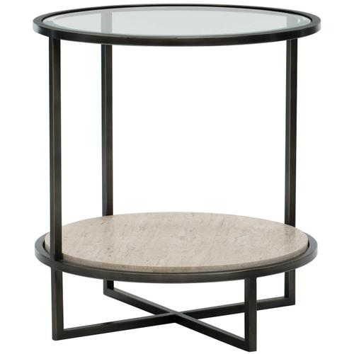 Harlow Metal Round Chairside Table