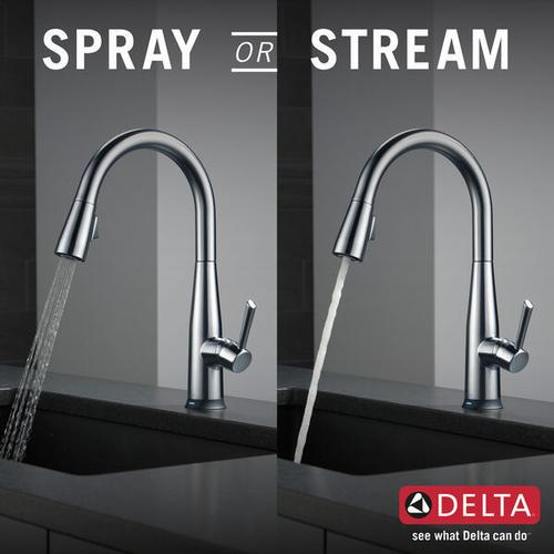 Arctic Stainless Single Handle Pull-Down Kitchen Faucet with Touch 2 O ® Technology