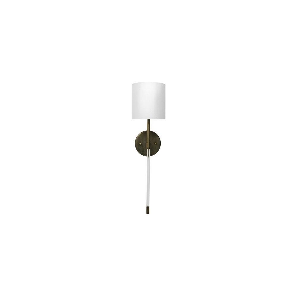 The Chic, Minimalist Silhouette of the Bristow Sconce Is A Study In Refined Design - A Crisp Linen Shade Sits Atop the Minimalist Acrylic Rod and Bronze Body. A Stunning Addition To Your Professional Lighting Plan.