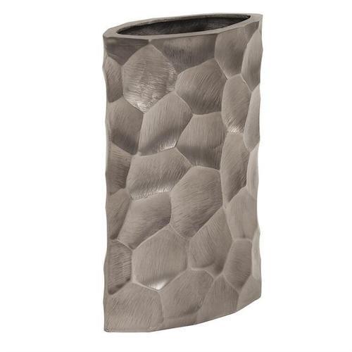 Howard Elliott - Hammered Aluminum Oval Vase Graphite, Small