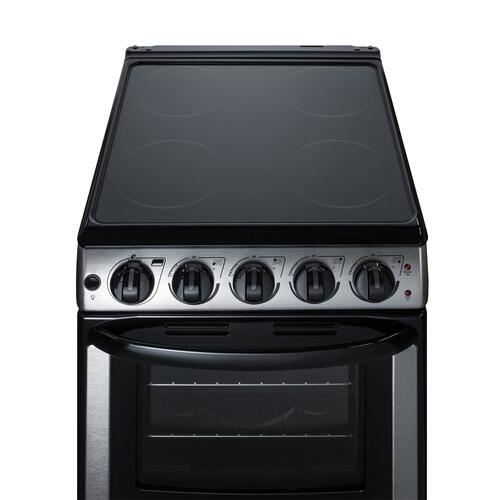 """Summit - 20"""" Wide Electric Smooth-top Range"""