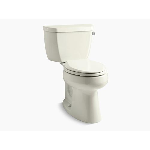 Kohler - Biscuit Two-piece Elongated 1.28 Gpf Chair Height Toilet With Right-hand Trip Lever
