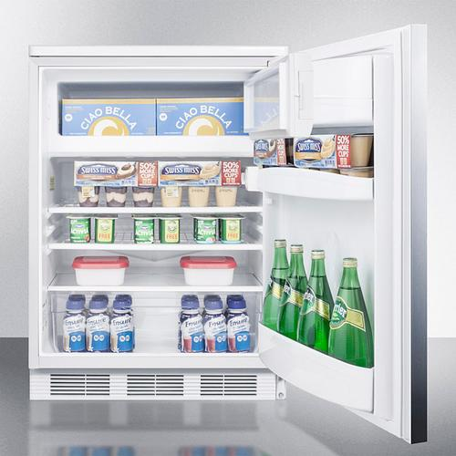 Product Image - Freestanding Refrigerator-freezer for General Purpose Use, With Dual Evaporator Cooling, Cycle Defrost, Lock, Ss Door, Horizontal Handle and White Cabinet