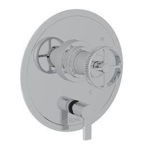 Polished Chrome Campo Pressure Balance Trim With Diverter with Industrial Metal Wheel Product Image