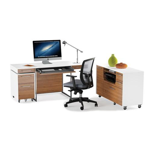 Mobile File Storage 6320 in Natural Walnut Satin White