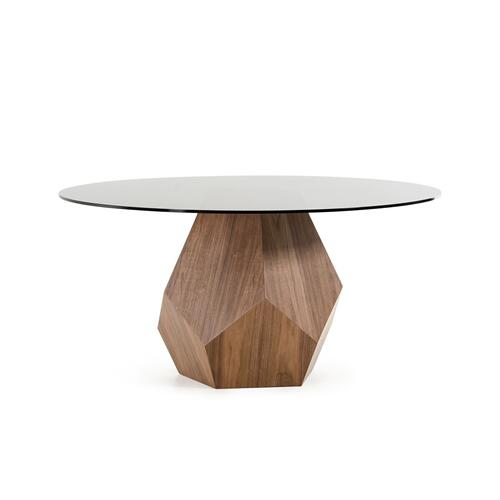 Product Image - Modrest Rackham Modern Walnut Round Dining Table