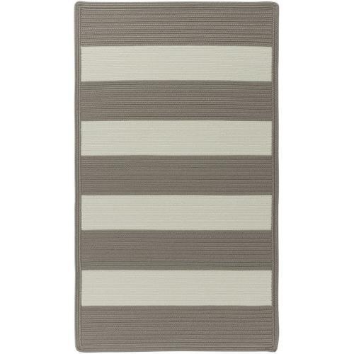 "Cabana Stripes Taupe - Concentric Rectangle - 20"" x 30"""