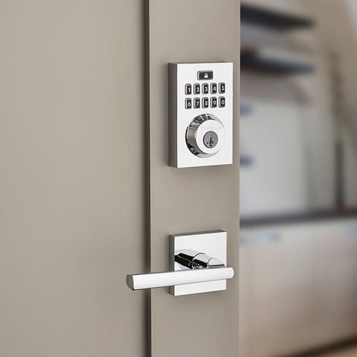 Kwikset - 914 SmartCode Contemporary Electronic Deadbolt with Z-Wave Technology - Polished Chrome